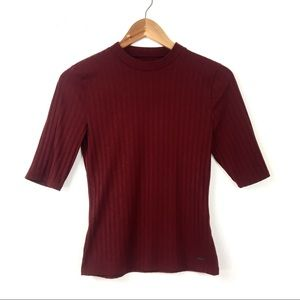 Hollister | Ribbed Turtle Neck Top